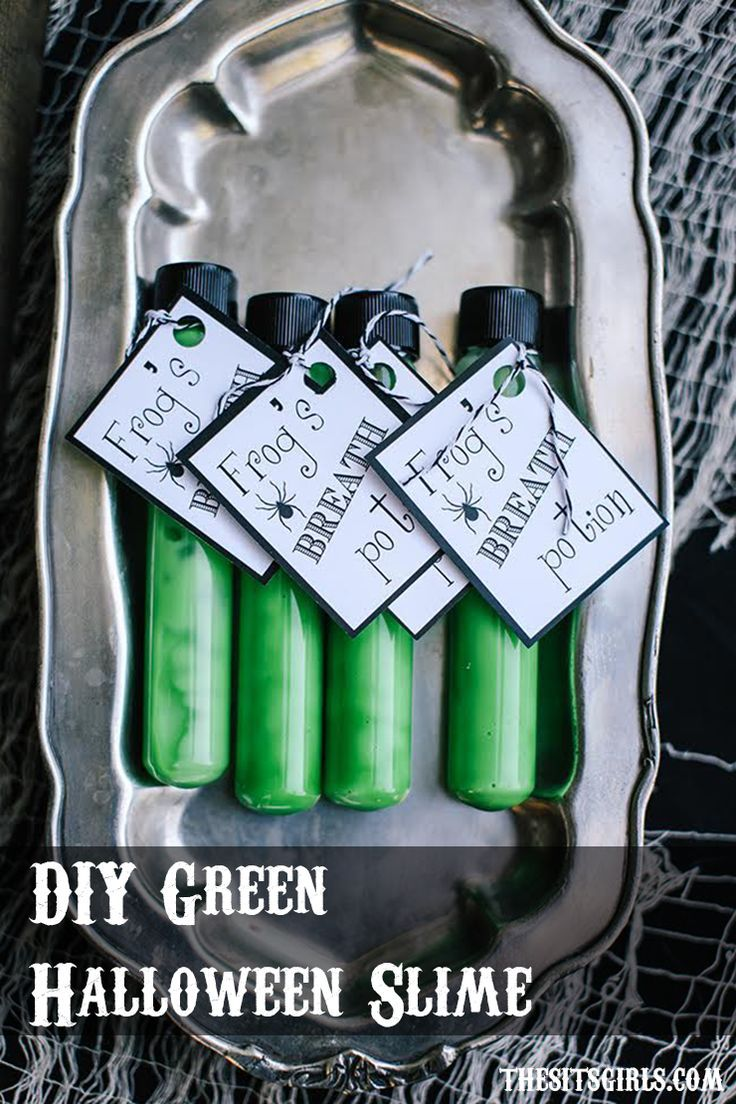 DIY Green Halloween Slime Recipe