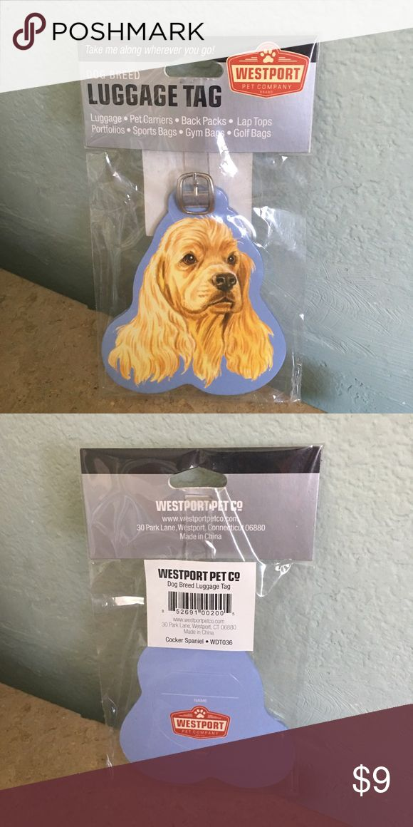 Cocker Spaniel Dog Luggage Tag New in package, direct from vendor ⚠️FINAL PRICE- NO OFFERS⚠️ Accessories