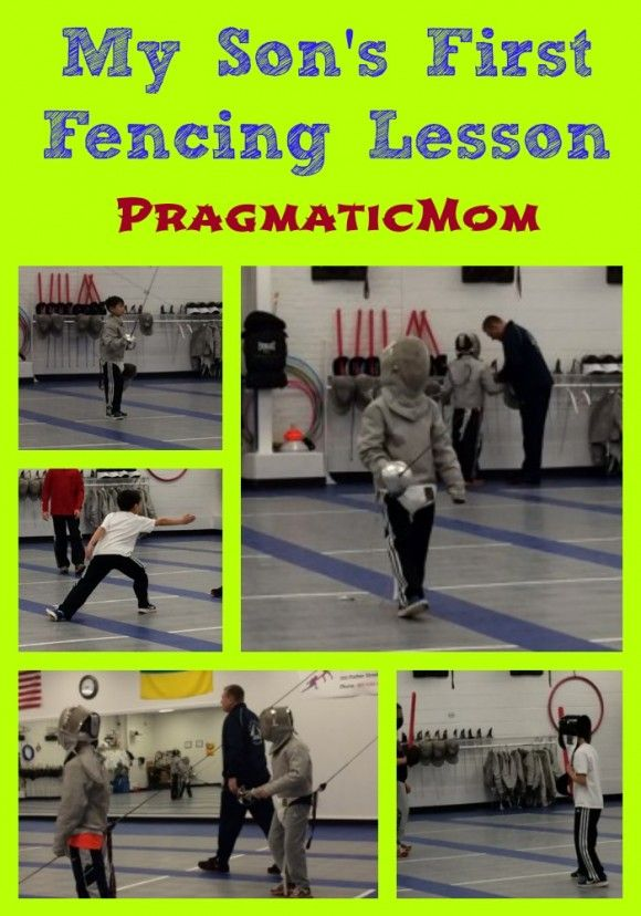What is it like when 4 young boys learn to fence? My 3rd grade son's first #fencing lesson. :: PragmaticMom