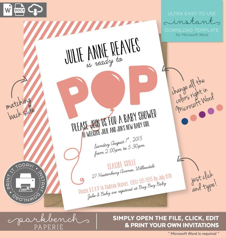 465 best images about Invitations on Pinterest First communion - how to make a baby shower invitation on microsoft word