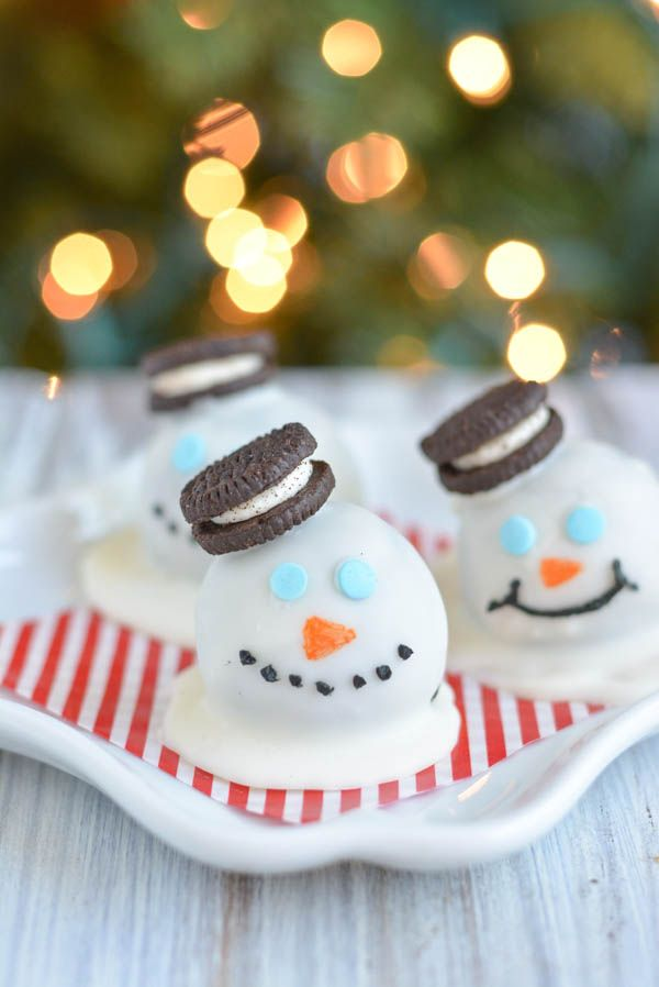 Snowmen Oreo Truffles.
