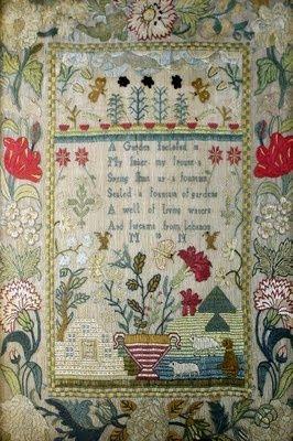 www.eyefordesignlfd.blogspot.com Decorating with Samplers.......Handstitched Heirlooms