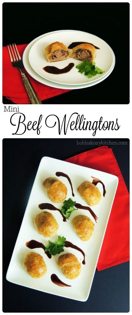 This fabulous Mini Beef Wellington appetizer recipe will have your friends raving, and make them think you slaved away in the kitchen, when you really didn't. From www.bobbiskozykitchen.com