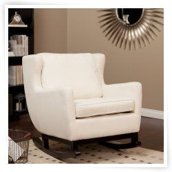 Belham Living Upholstered Rocking Chair - Cream