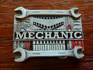 Mechaniker - Gürtelschnallen Buckles orig. amerikanische und englische aus Zinnguss