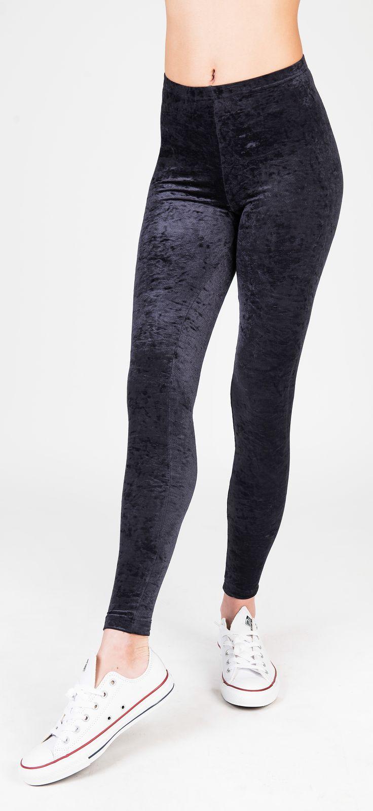 PCP Vanessa - black velvet leggings