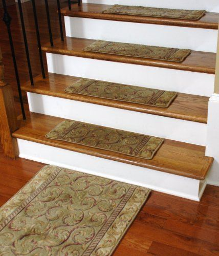 Premium Carpet Stair Treads   Meadow Scrollwork (13) PLUS A Matching 5u0027  Runner