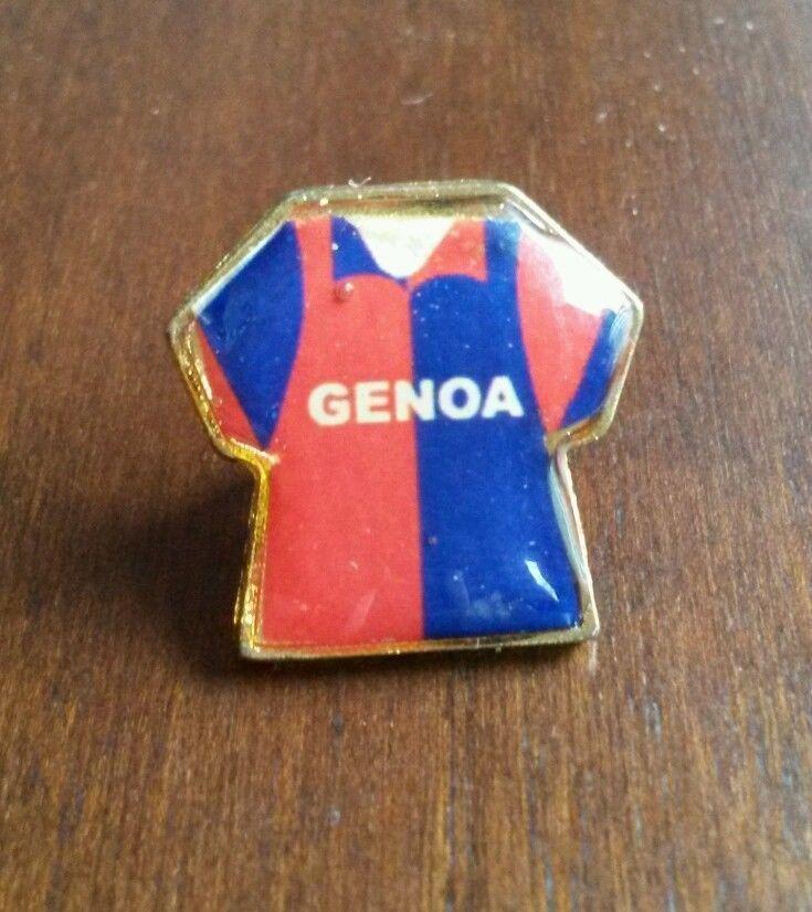 Spilla distintivo T shirt GENOA calcio pin football badge