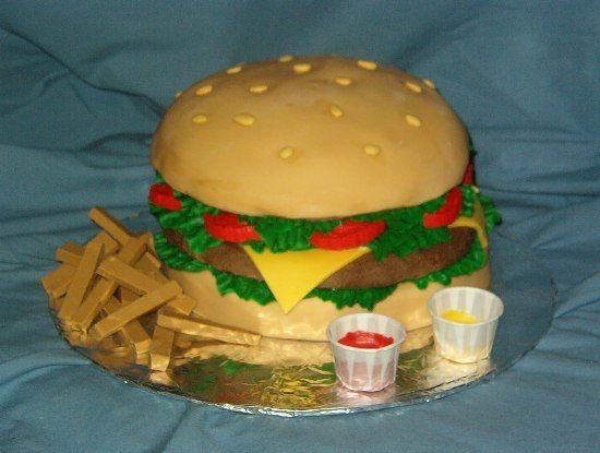 Hamburger Birthday Cake Decorating Ideas