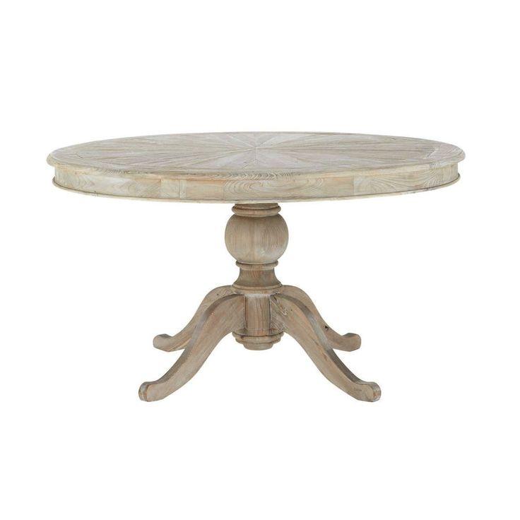 Mesa de comedor redonda de madera Diam. 140 cm