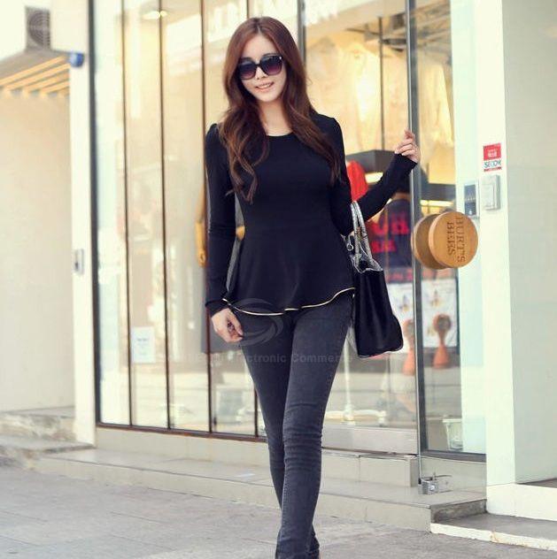 Slim-Fitting Casual Splicing Irregular Long Sleeves Women's KnitwearSweaters & Cardigans   RoseGal.com