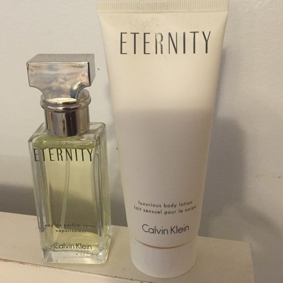 Calvin Klein Eternity perfume and lotion Never used...1 Fl Oz perfume...3.4 Oz lotion Calvin Klein Other