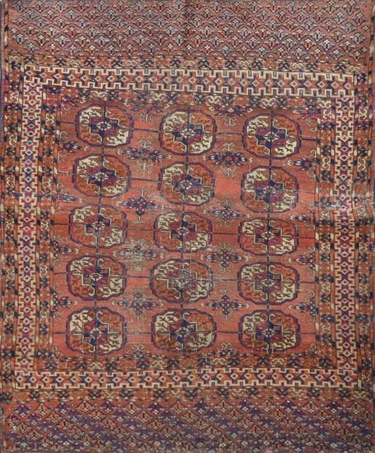 "Carpet Culture - TURKMAN TEKKE RUG - 3' - 5"" X 4' - 2""  - CC1556"