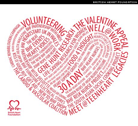 Really nice type treatment from the British Heart Foundation