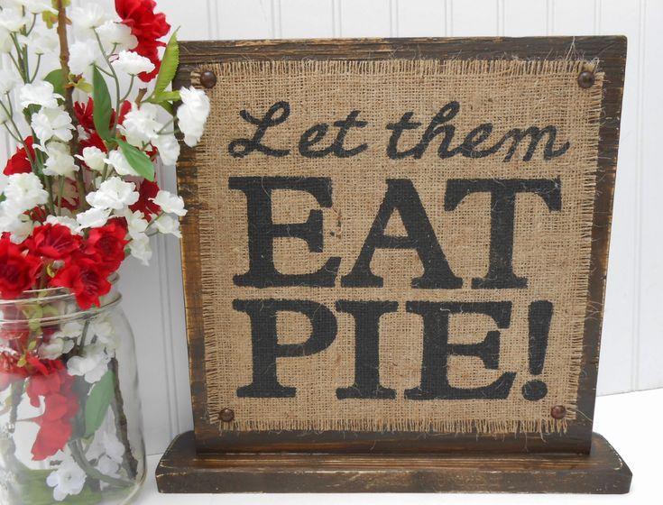 pie sign wedding | Dessert table sign PIE decor, burlap and rustic WEDDING prop ...