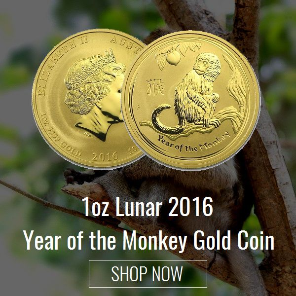 Brisbane Bullion presents the 1oz Lunar Monkey Gold Coin (2016) from the Australian Lunar Series II by the Perth Mint, a great gift idea to mark a special occasion, a great investment idea for a precious metal or future savings. Know more at https://brisbanebullion.com.au/1-oz-lunar-2016-year-of-the-monkey-gold-coin #gold #silver #platinum #rooster #australian #lunarsilvercoin #brisbanebullion #buy #shopnow #bestprice #brisbane #queenlands #australia #shoponline #pamp #pampsilvermintedbar…