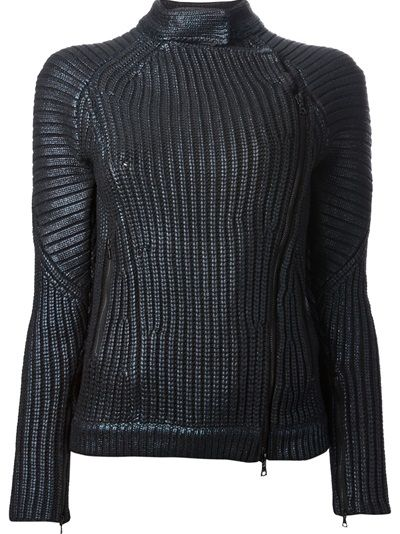 3.1 PHILLIP LIM Ribbed Long Sleeve Sweater