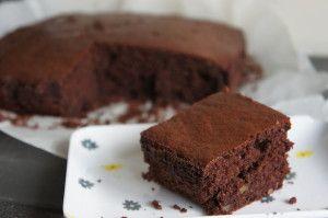 Simpele suikervrije brownie met walnoten