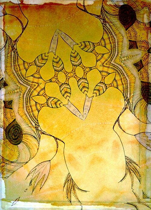 Yellow Woods Aquarell drawing