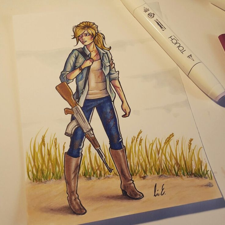 Touch twin markers and colored pencils. Survivor