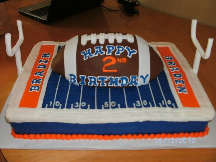 Boise State Football Cake