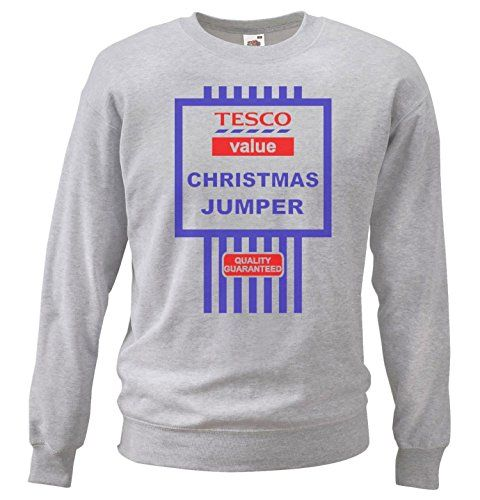 From 12.95 Large Grey Funny Christmas Tesco Value Cheesy Jumpers