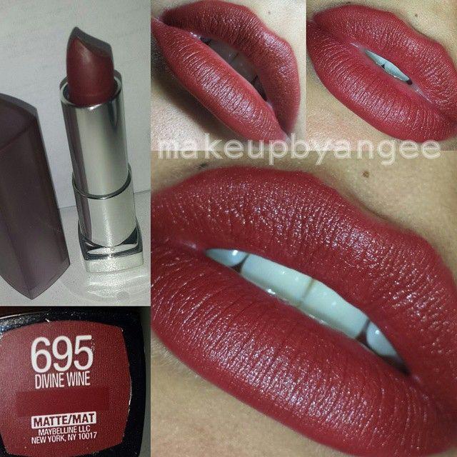 pinterest: @jaidyngrace🍇 Maybelline Matte Lipstick in 695 Divine Wine