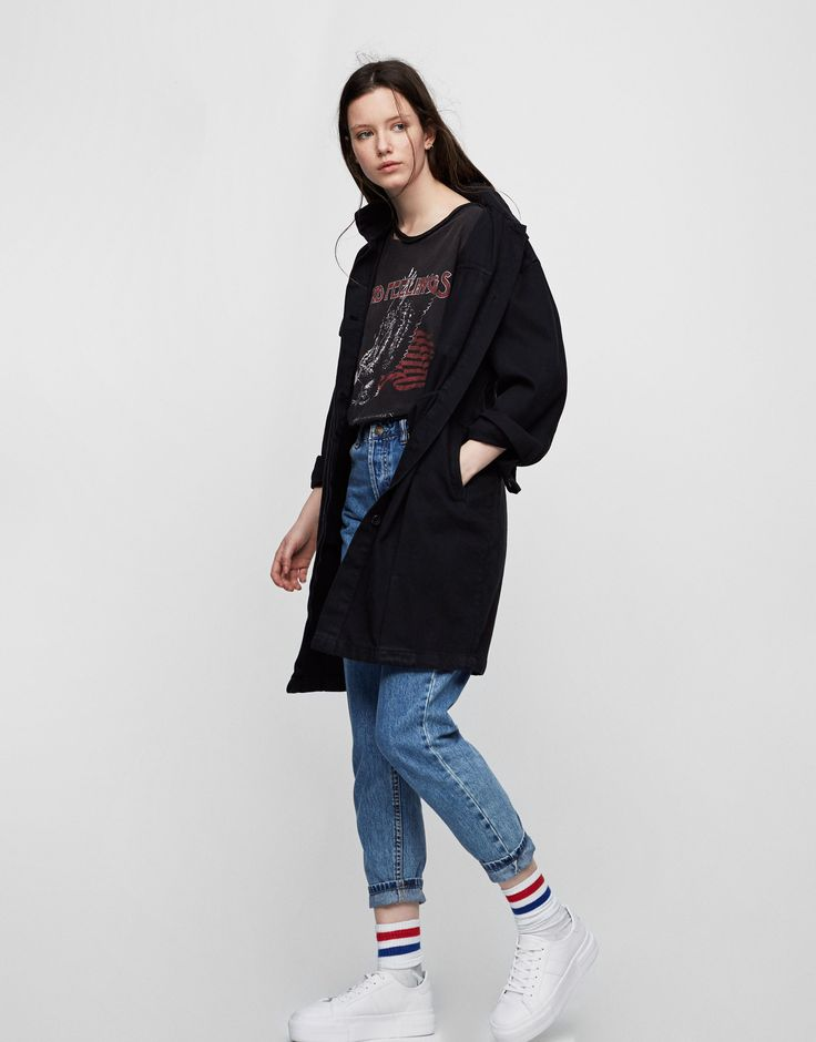 Pull&Bear - ženy - oděvy - nejprodávanější ❤ - mom fit jeans - blue - 05689309-V2017