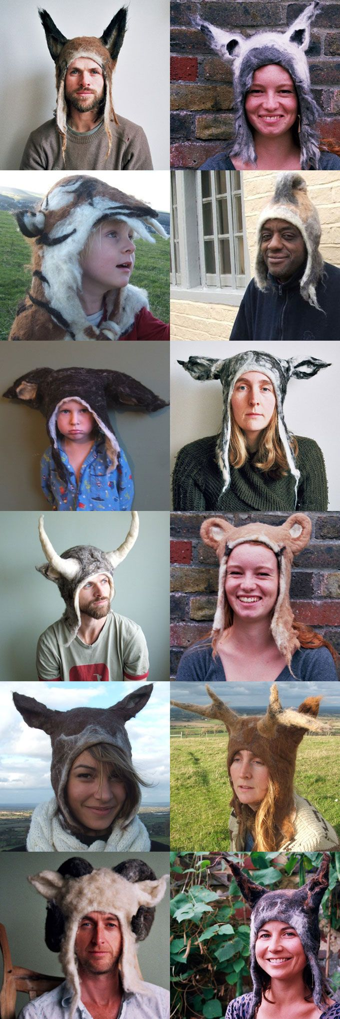 Barbara Keal makes unusual, delightfully strange felt hats, perfect for cold winter mornings and pagan orgies.  Source: http://boingboing.net