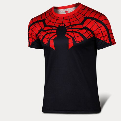 Cheap Envío gratis 2015 nuevos hombres superhéroe compresión camisa araña gym / run / tren / crossfit aptos camisas apretadas deportes t shirt, Compro Calidad Camisetas directamente de los surtidores de China:   2015 Men 3d hero green giant compression shirts spandex elastic breathable skins Base Layers tops tights sports Runnin