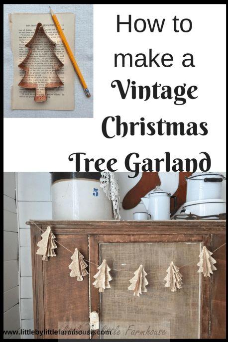 how to make vintage book christmas tree garland