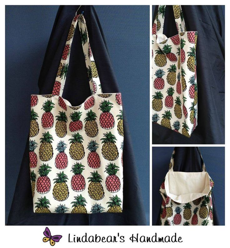 Made by Lindabears Handmade Pineapple Tote Bag For more information, please visit https://www.facebook.com/HandmadeMarkets