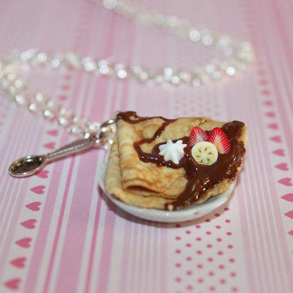 Chocolat Crepe Français collier nourriture Kawaii par Dleesnow