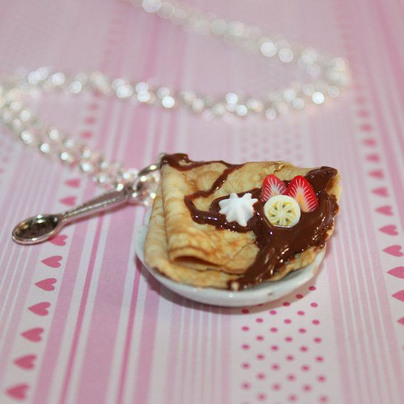 Chocolat Crepe Français collier - nourriture - Kawaii collier