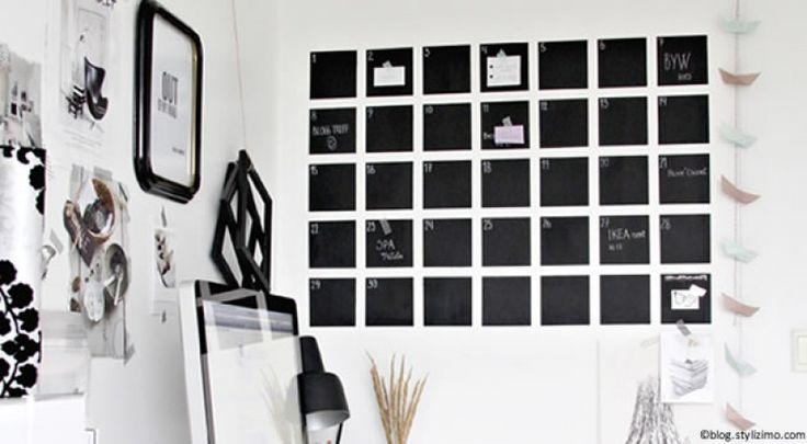 Fabriquer un calendrier mural !