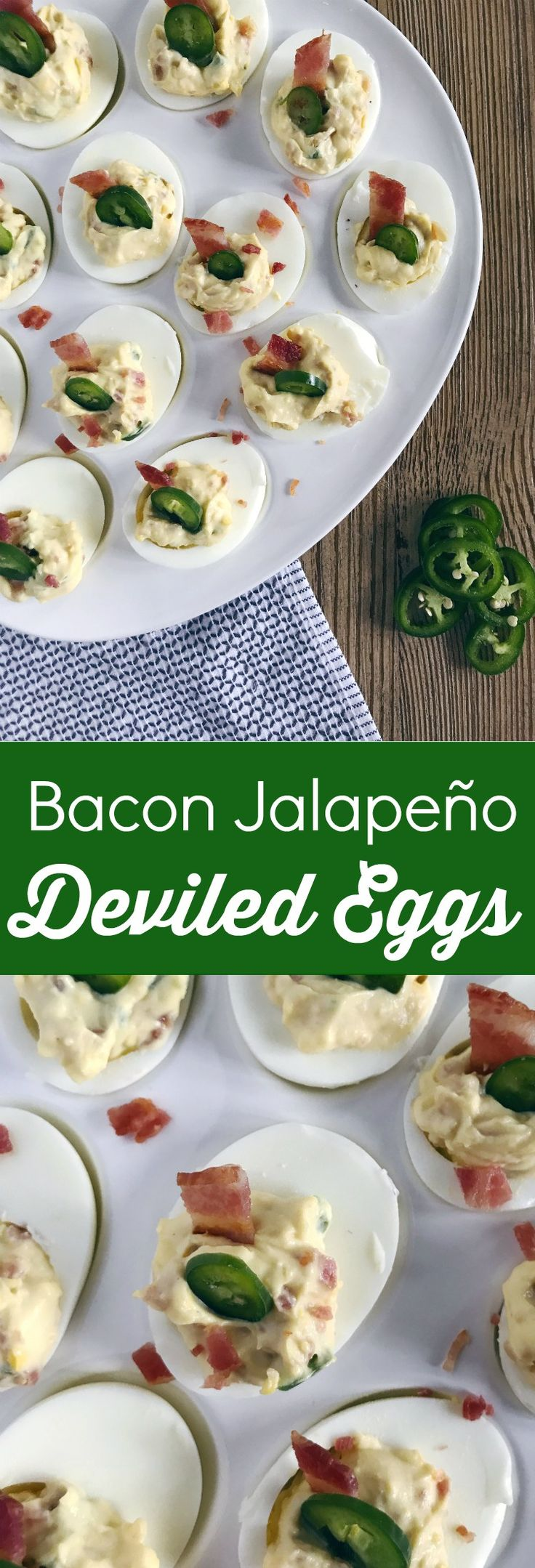 Zesty Bacon Jalapeño Deviled Eggs will rekindle your love of this classic southern appetizer. Serve these modern deviled eggs at any gathering and wow your party guests!