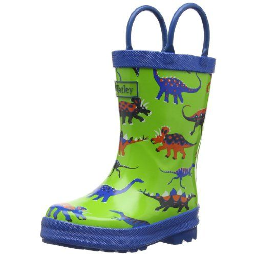 Hatley Big Boys Rainboots - Dinosaurs - Cute Rain Boots for Kids