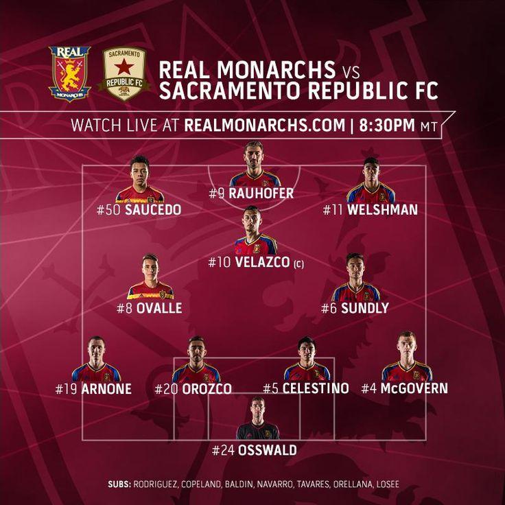 Starting XI v #SAC: Osswald; Arnone, Orozco, Lennon, McGov; Fito, Sundly, Velazco (c); Bofo, Emery, Rauhofer