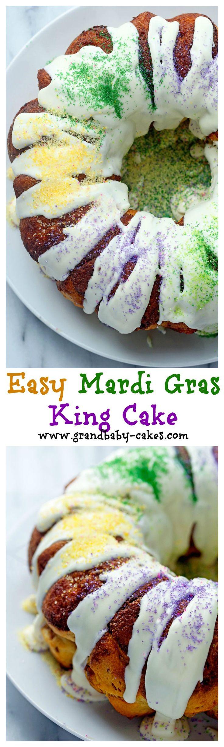 Easy Mardi Gras King Cake | Grandbaby Cakes
