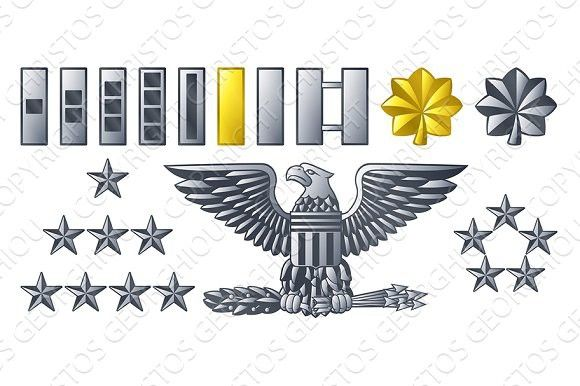 Army Military Officer Insignia Ranks #military
