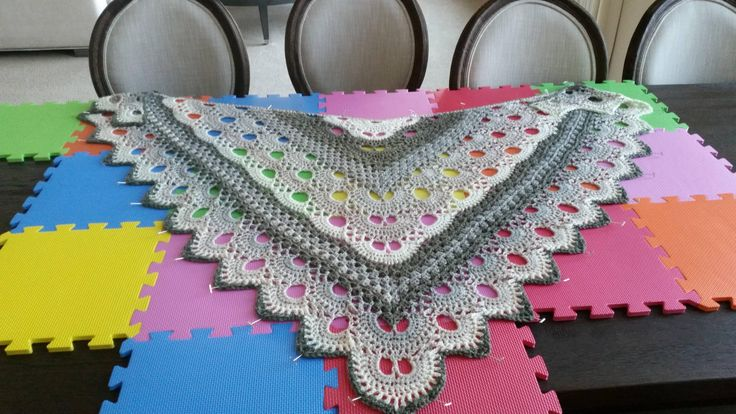 Crochet Virus Shawl Caron Cake