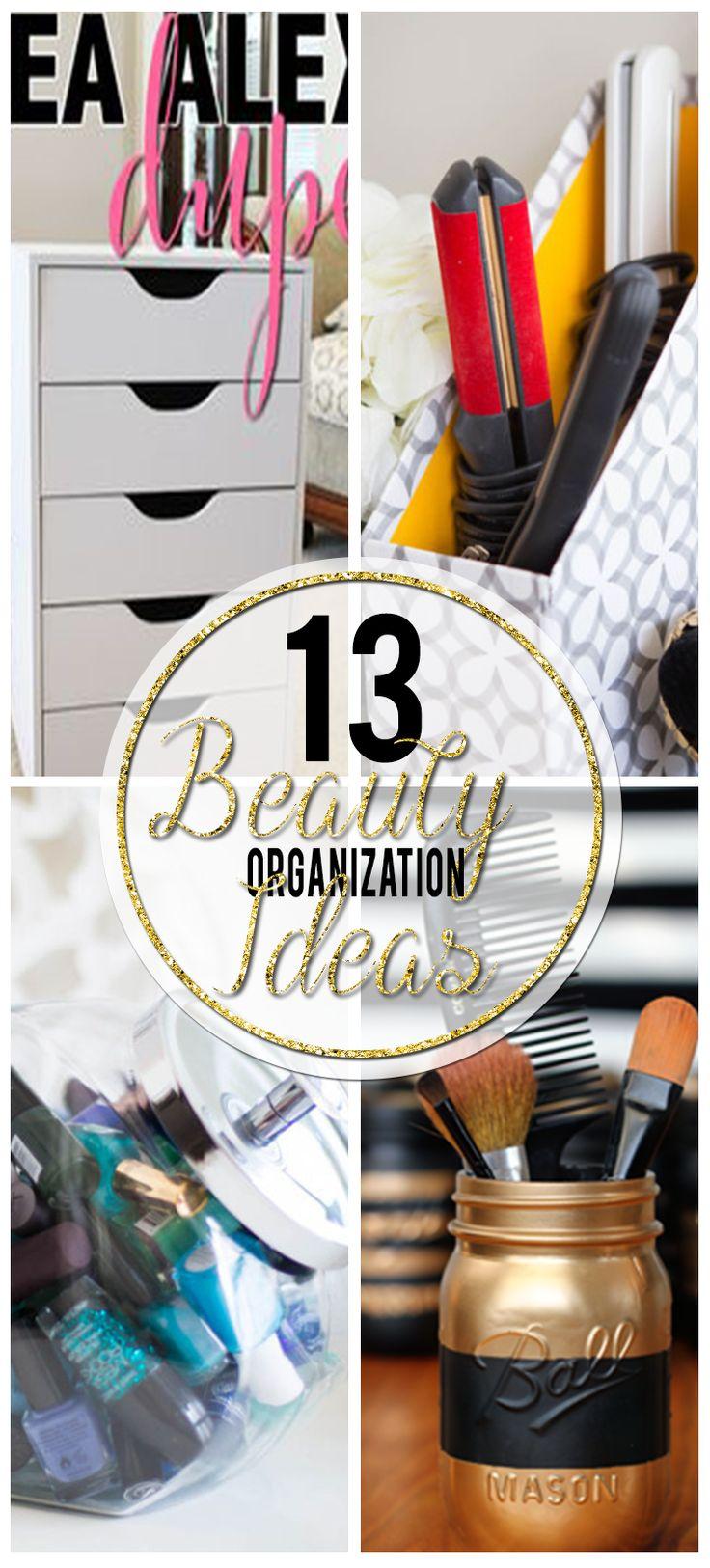 Bekijk deze 13 verbazingwekkende schoonheid opslag organisatie ideeën!  Krijg alle tips, trucs en instructies die u nodig hebt om uw beauty producten te organiseren !!