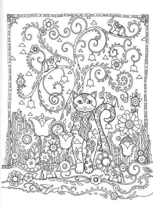 35 best images about Creative cats colouring pages on Pinterest