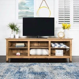 shop for essentials barnwood 70inch tv media stand get free shipping at overstock