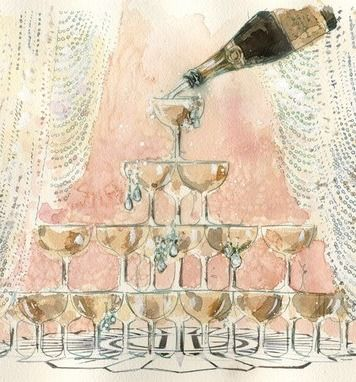 une belle fontaine de #champagne.... pour un mariage ou un moment de fête ?