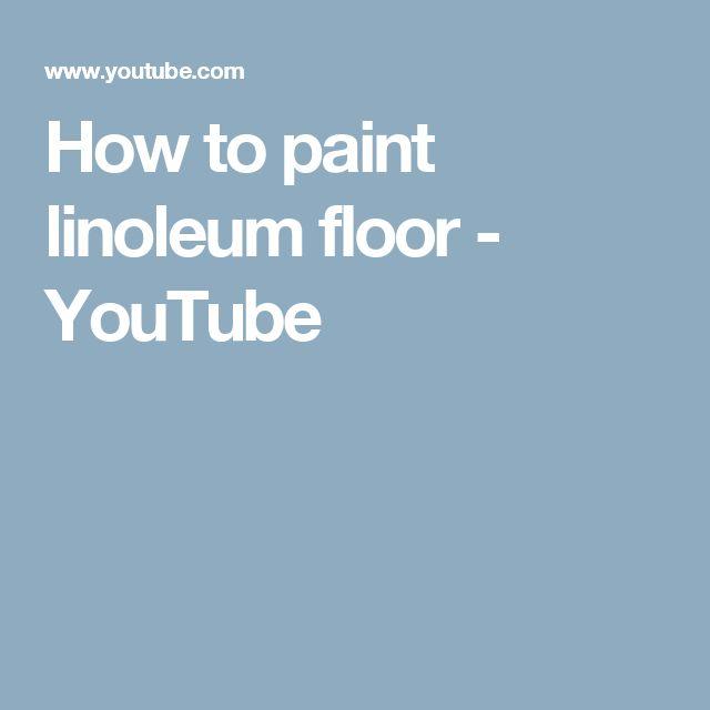 How to paint linoleum floor - YouTube