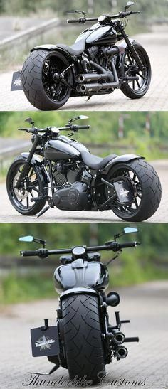 Customized Harley-Davidson Softail Breakout by Thunderbike Customs (Germany) #Ha…