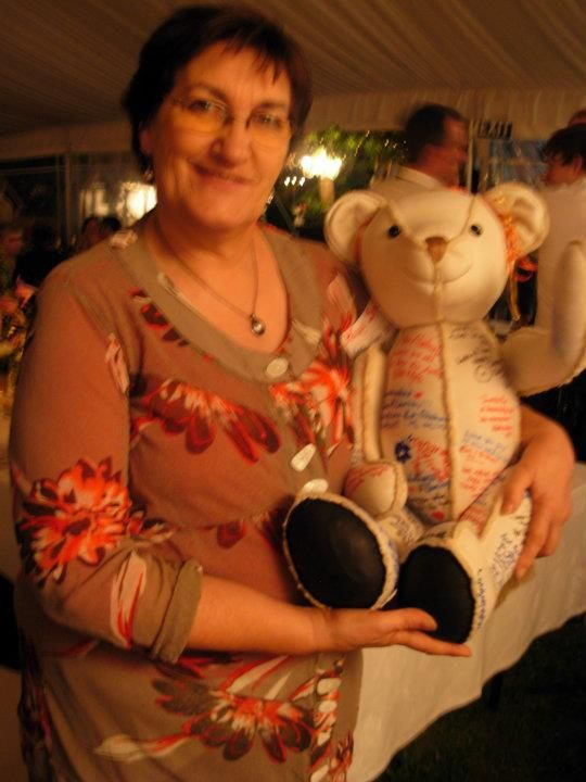me with signatures on wedding ted at nieces wedding, 2011? aw