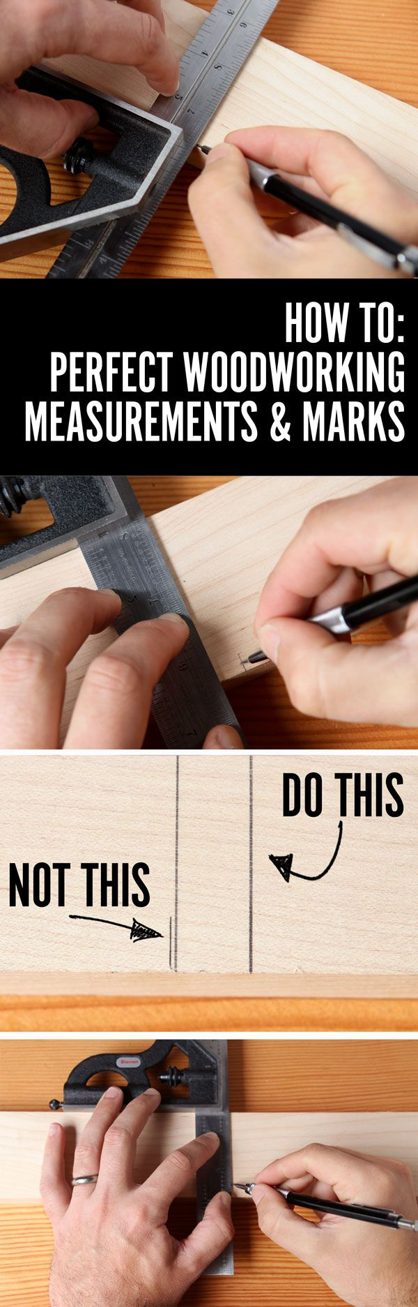 The 1-Second Trick to More Accurate Measuring and Marking for Your Woodworking Projects | Man Made DIY | Crafts for Men | Keywords: how-to, diy, woodworking, wood