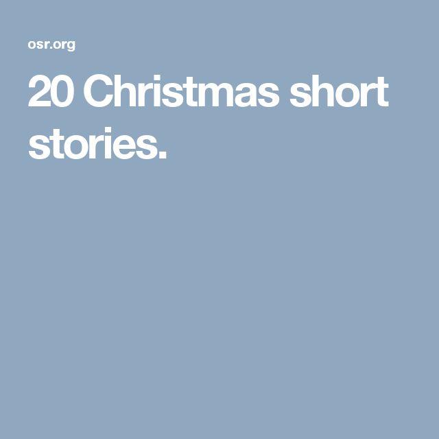 20 Christmas short stories.